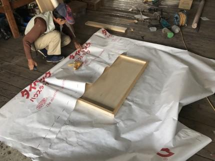 井戸の蓋制作