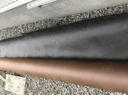 使用した厚手の防草シート