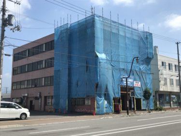 函館市宮前町のセイコービルの外壁漏水修理工事
