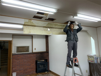 天井水漏れ調査修繕