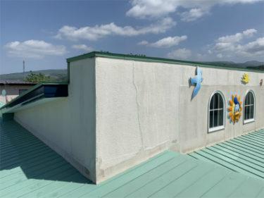 亀田郡七飯大川の施設のモルタル外壁修繕工事