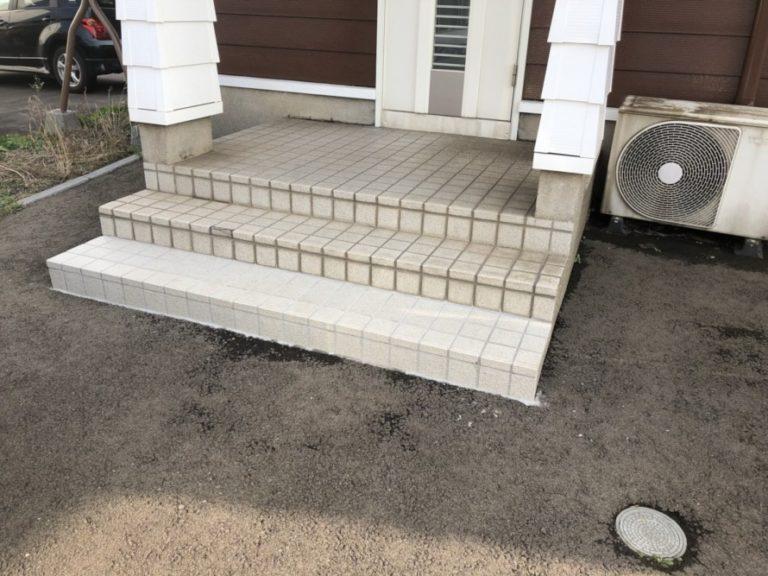 玄関タイル貼り替え工事完了