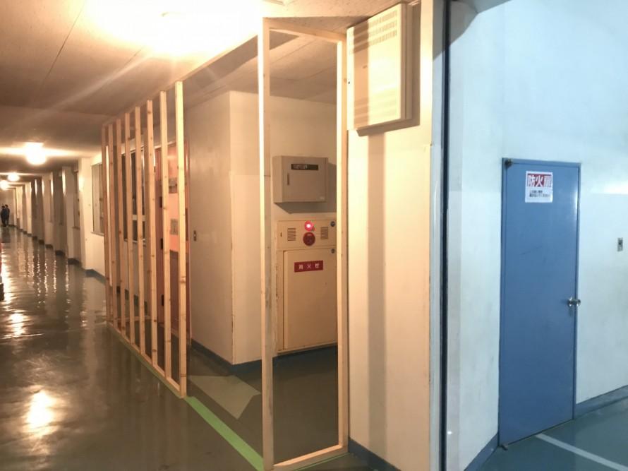 仮設の壁準備