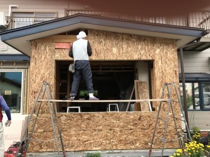 構造用合板施工