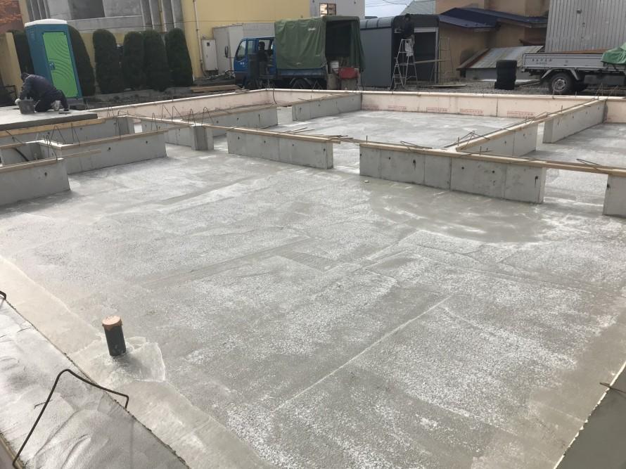コンクリート打設終了