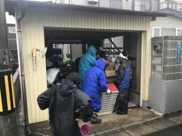 函館市日吉町の車庫ゴミ捨てと廃棄処理