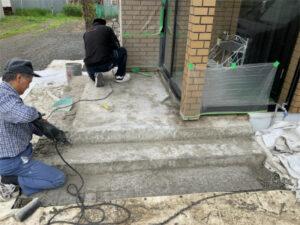 函館市高丘町にある住宅の玄関ポーチ改修 リフォーム
