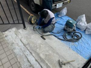 函館市昭和玄関ポーチタイル貼替工事 リフォーム