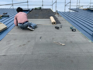函館市高丘町にある住宅の屋根と外壁のリフォーム工事