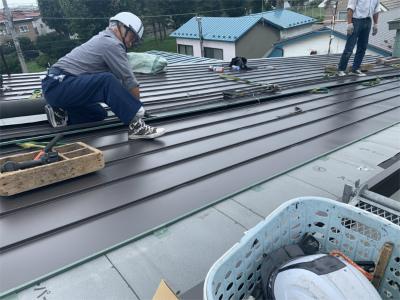 函館市堀川町にある住宅の屋根葺き替え工事 リフォーム