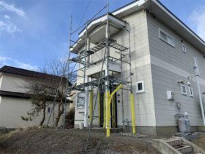 函館市陣川町にある住宅の外壁修繕 リフォーム工事
