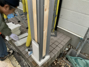 函館市陣川町にある住宅の外函館市陣川町にある住宅の外壁修繕 リフォーム工事